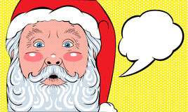 Pop art de Santa Claus Imagens de Stock