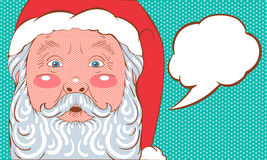 Pop art de Santa Claus Foto de Stock Royalty Free