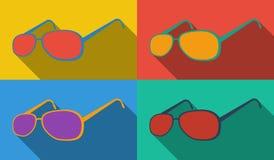 Pop art degli occhiali da sole Immagine Stock