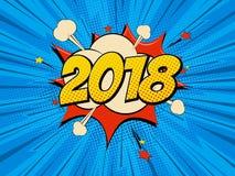 Pop art del nuovo anno Fotografia Stock
