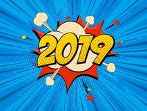 Pop art del nuovo anno royalty illustrazione gratis