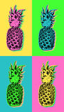 Pop art design with colorful summer pineapple Stock Image