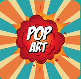 Pop art design Royalty Free Stock Photography