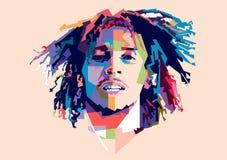 Pop art di Bob Marley WPAP illustrazione vettoriale