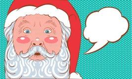 Pop art di Santa Claus Fotografia Stock Libera da Diritti