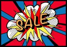 Pop art di vendita di vendita di vendita! Fotografia Stock