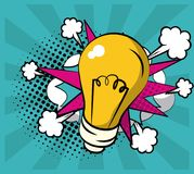 Pop art do bulbo ilustração do vetor
