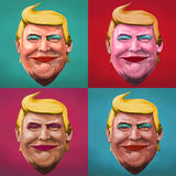 Pop Art Donald Trump illustration stock illustration