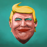 Pop Art Donald Trump illustration vector illustration