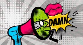 Pop art dot colored halftone background DAMN Stock Photography