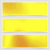 Pop-art dotted retro style yellow flyer collection Royalty Free Stock Images