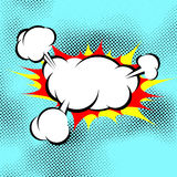 Pop art explosion boom cloud comic book background royalty free illustration