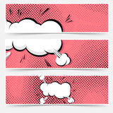 Pop art explosion comic book web collection stock illustration