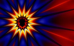 Pop Art Explosion (fractal30d). Comic styled explosion (generated from a fractal design Royalty Free Illustration