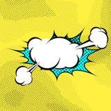 Pop-art expression comics book steam cloud Stock Photography
