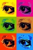 Pop art eyes Royalty Free Stock Photo