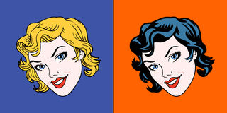 Pop art faces Stock Photography