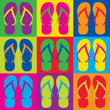 Pop Art Flip Flops royaltyfri illustrationer