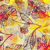 Pop-art floral design Stock Image
