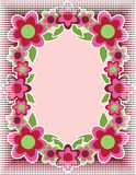Pop Art Flower Background Stock Image
