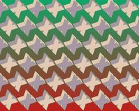 Pop Art Flying Xs Pattern Green Red Gradient Royalty Free Stock Photography