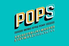 Pop art font. Trendy style pop art font, alphabet letters and numbers vector illustration