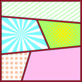 Pop art frame comics background page template Stock Photography