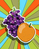 Pop art fresh fruits Stock Photography