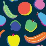 Pop art fruits pattern Royalty Free Stock Photo