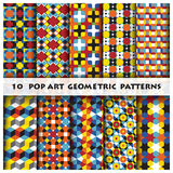 Pop Art Geometric Background Pattern Style Stock Afbeeldingen