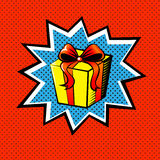 Pop art gift Royalty Free Stock Photos