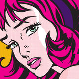 Pop Art Girl Royalty Free Stock Photography