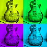 Pop art guitar Royalty Free Stock Images
