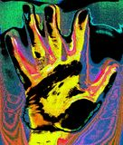 Pop Art Hand. Pop Art illustration of a hand Stock Photos