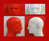 Pop Art Heads Stock Photo
