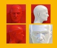 Pop Art Heads Stock Photos