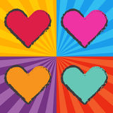 Pop art heart Royalty Free Stock Image