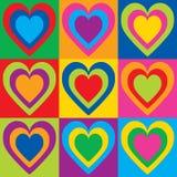 Pop Art Hearts Stock Photography