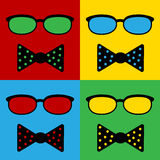 Pop art hipster icon Royalty Free Stock Photos
