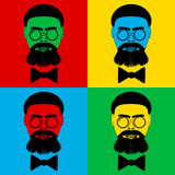 Pop art hipster icons Stock Image