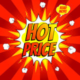 Pop art hot price banner Royalty Free Stock Image