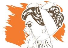 Pop Art illustration of girl Stock Photos