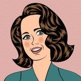 Pop Art illustration of girl Stock Images
