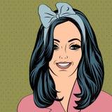 Pop Art illustration of girl Stock Image
