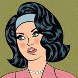 Pop Art illustration of girl Royalty Free Stock Photo