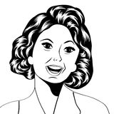 Pop Art illustration of a laughing woman Royalty Free Stock Photography