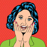 Pop Art illustration of a laughing woman Royalty Free Stock Photos