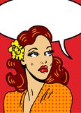 Pop Art Illustration Of A Woman Royalty Free Stock Images