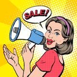 Pop art illustration - sale concept Stock Photography