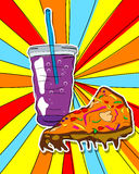 Pop art junk food Stock Image